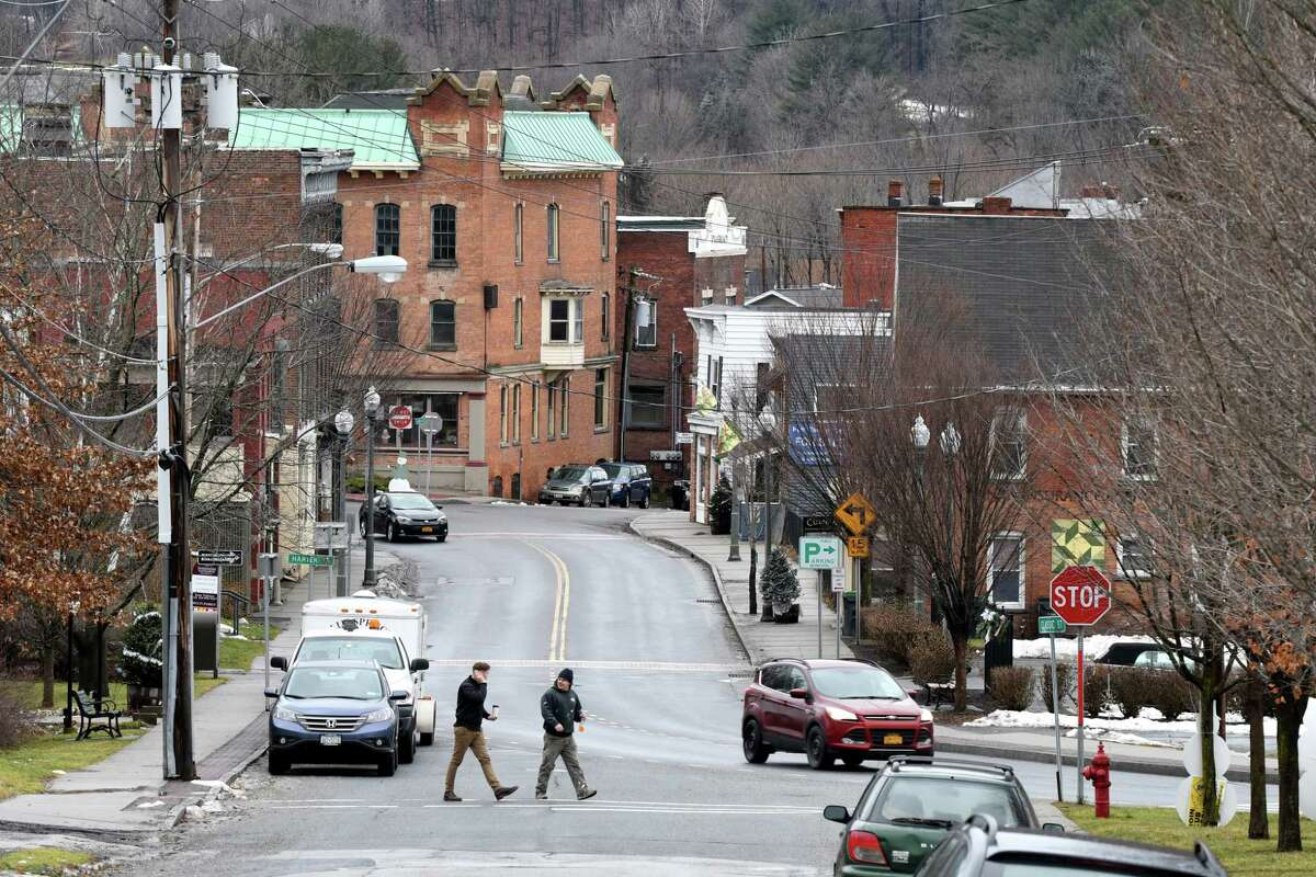 Looking down Classic Street at towards the center of town on Wednesday, Jan. 4, 2017, in Hoosick Falls, N.Y. (Will Waldron/Times Union)