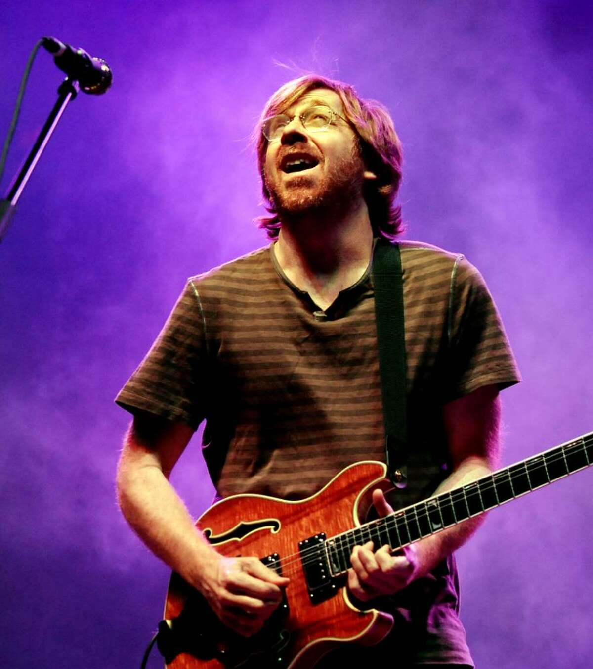 Trey Anastasio performs with Phish Friday night at the Times Union Center in Albany. The band performs again Saturday night. (Cindy Schultz / Times Union)
