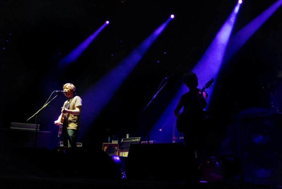 The spotlight hits Trey Anastasio as he performs with Phish on Friday, Nov. 27, at the Times Union Center in Albany. (Cindy Schultz / Times Union)