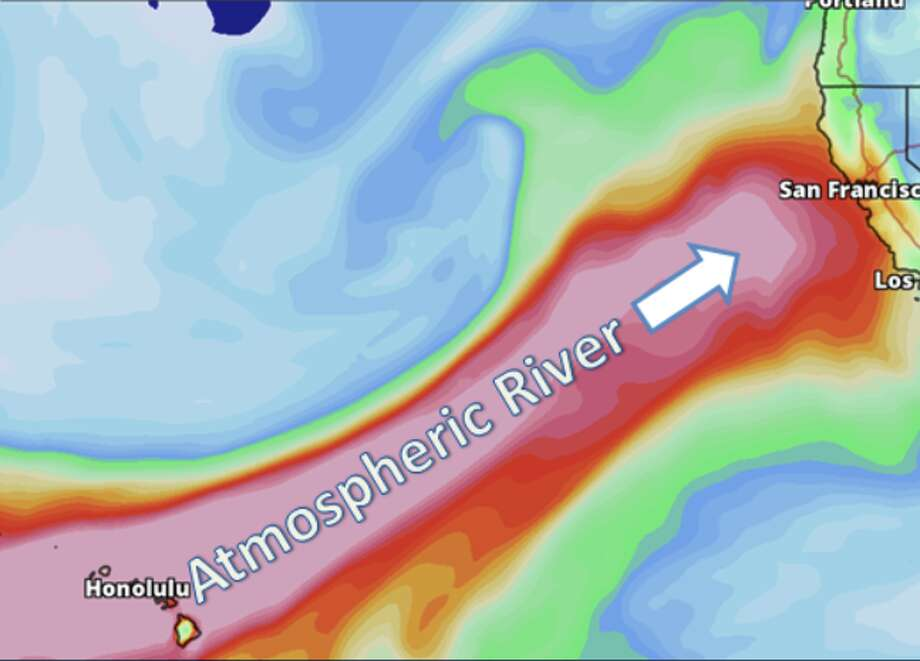 An atmospheric river-driven weather system is poised to blast Northern California Friday and Saturday. Photo: National Weather Service Bay Area