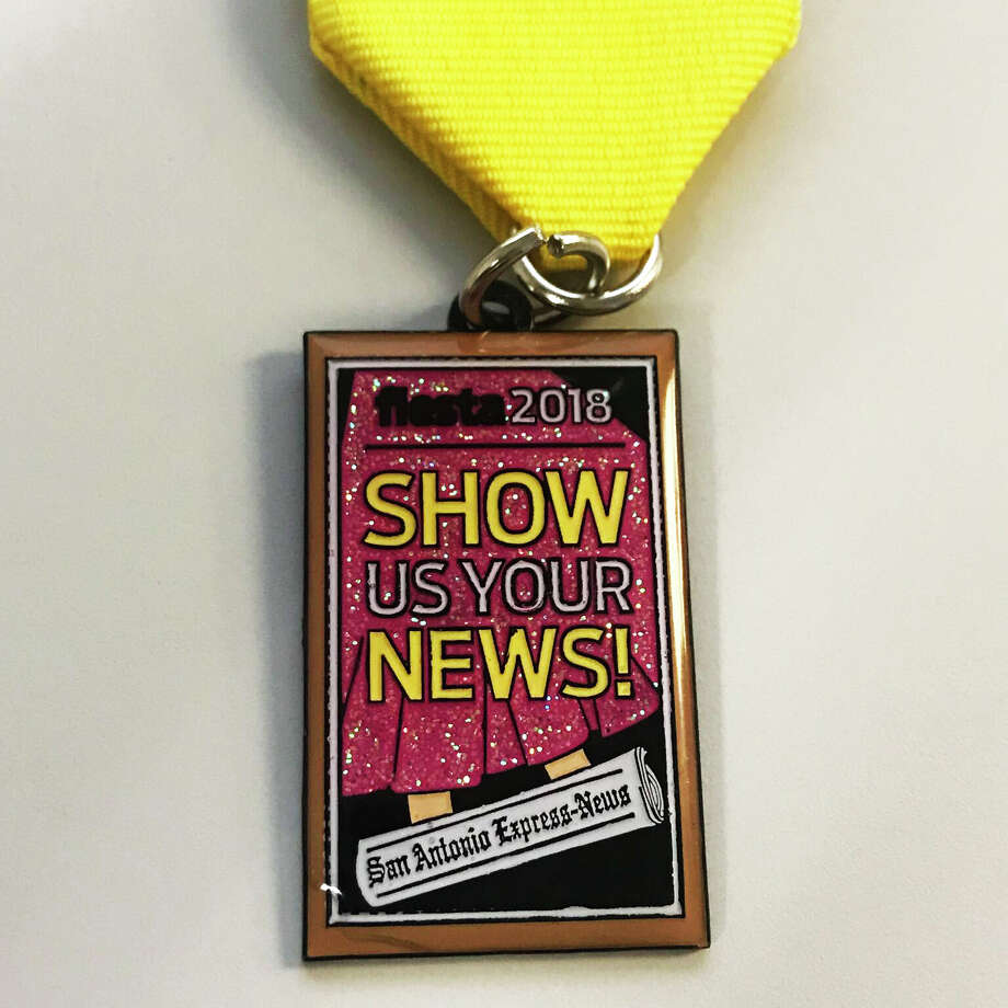 San Antonio Express-News releases 2018 Fiesta medal: 'Show us your news!' The medal is available to purchase for $7. Photo: San Antonio Express-News