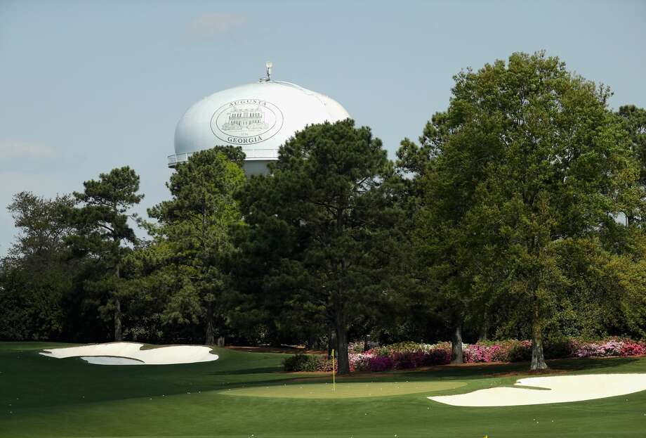 AUGUSTA, GA - APRIL 03:  A general view of the water tower and the practice range during a practice round prior to the start of the 2018 Masters Tournament at Augusta National Golf Club on April 3, 2018 in Augusta, Georgia.  (Photo by Patrick Smith/Getty Images) Photo: Patrick Smith/Getty Images