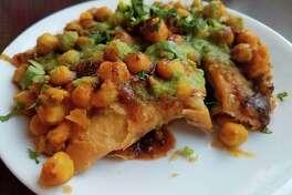 Samosa chaatatCinnamon Indian Cuisine, located 225 W.Wackerly Street in Midland. (Matthew Woods/ for the Daily News)