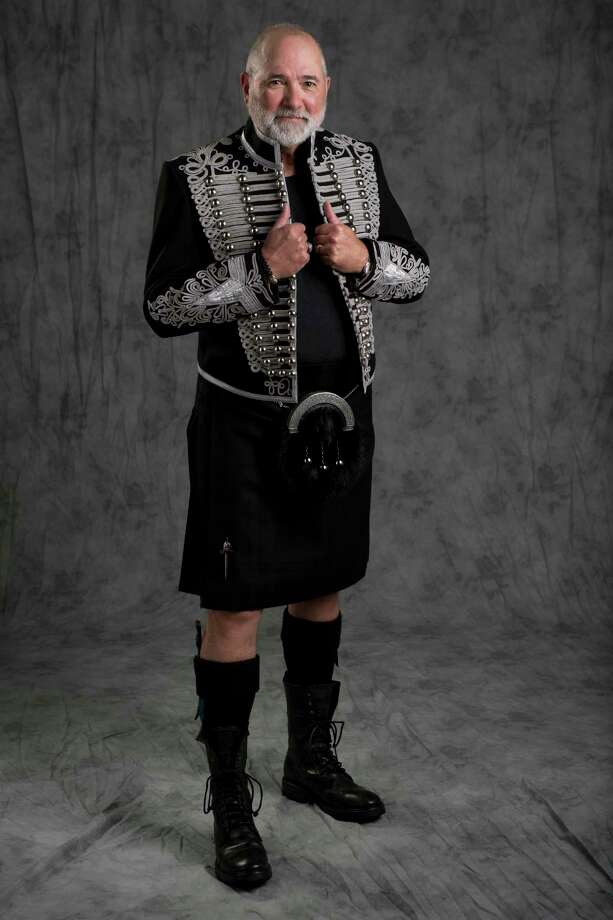 Bob Cavnar poses for a portrait wearing one of his many kilts in the Chronicle Studion on Friday, March 23, 2018, in Houston. Photo: Brett Coomer, Houston Chronicle / © 2018 Houston Chronicle