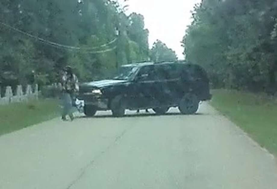The dashcam of a delivery driver captured video of a vehicle wanted in an attempted robbery in the 29500 block of Tanglewood Road in Magnolia Tuesday,April 2, 2018. Photo: Montgomery County Sheriff's Office