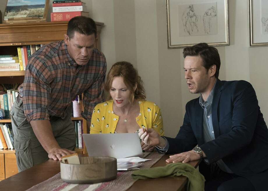 "This image released by Universal Pictures shows John Cena, from left, Leslie Mann and Ike Barinholtz in a scene from ""Blockers."" (Quantrell D. Colbert/Universal Pictures via AP) Photo: Quantrell D. Colbert / Universal Pictures"