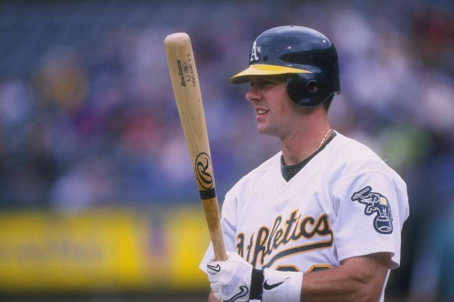 7 May 1998:  Catcher A. J. Hinch of the Oakland Athletics in action during a game against the Detroit Tigers at the Oakland Coliseum in Oakland, California.  The Tigers defeated the Athletics 6-3. Otto Greule Jr.  /Allsport Photo: Otto Greule Jr/Getty Images