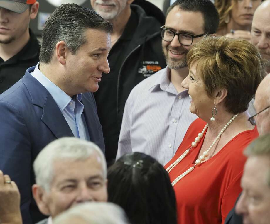 US Senator Ted Cruz talks with and takes pictures with supporters 04/04/18 during a  campaign stop in Midland at Discovery Operating, speaking to area residents on a campaign tour of Texas. Tim Fischer/Reporter-Telegram Photo: Tim Fischer/Midland Reporter-Telegram