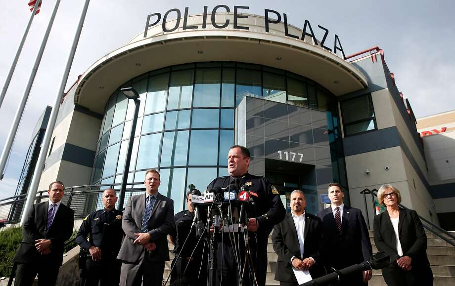 San Bruno Police Chief Ed Barberini briefed reporters on Mondays shooting at YouTube offices during a news conference at police headquarters in San Bruno, Calif. on Wednesday, April 4, 2018. Google and YouTube are donating at least $280,000 to the San Bruno Community Foundation, to fund an initiative aimed at first responders. Photo: Paul Chinn / The Chronicle