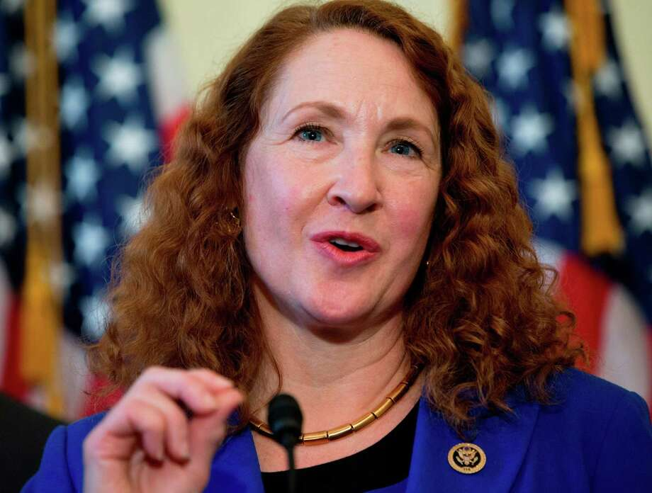 Rep. Elizabeth Esty, D-Conn. speaks on Capitol Hill in Washington. Esty on Monday, April 2, 2018, asked the House Ethics Committee to investigate whether she did anything wrong in her handling of the firing of her former chief of staff accused of harassment, threats and violence against female staffers in her congressional office. Photo: Carolyn Kaster / Associated Press / Copyright 2018 The Associated Press. All rights reserved.