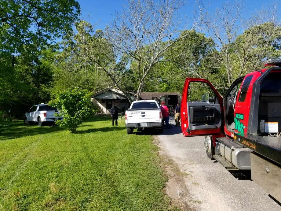 Three individuals were arrested this morning after officers with multiple agencies converged on a home located on Highway 63 West, north of the Angelina River. Officers seized marijuana, methamphetamine as well as a stolen vehicle out of Louisiana. Photo: Andrea Whitney