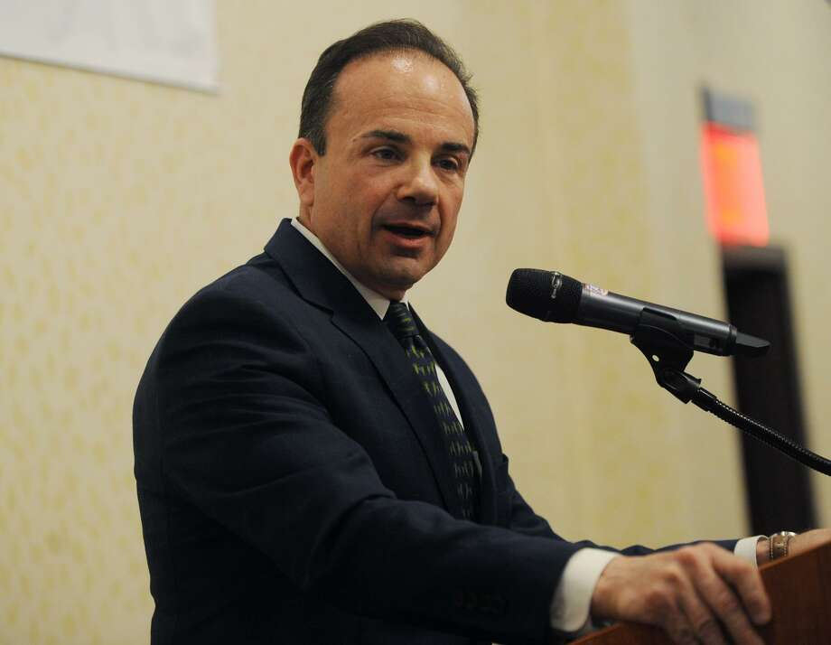 Bridgeport Mayor Joe Ganim delivers the annual State of the City speech to members of the business community at the Holiday Inn in Bridgeport, Conn. on Wednesday, April 4, 2018. Photo: Brian A. Pounds / Hearst Connecticut Media / Connecticut Post