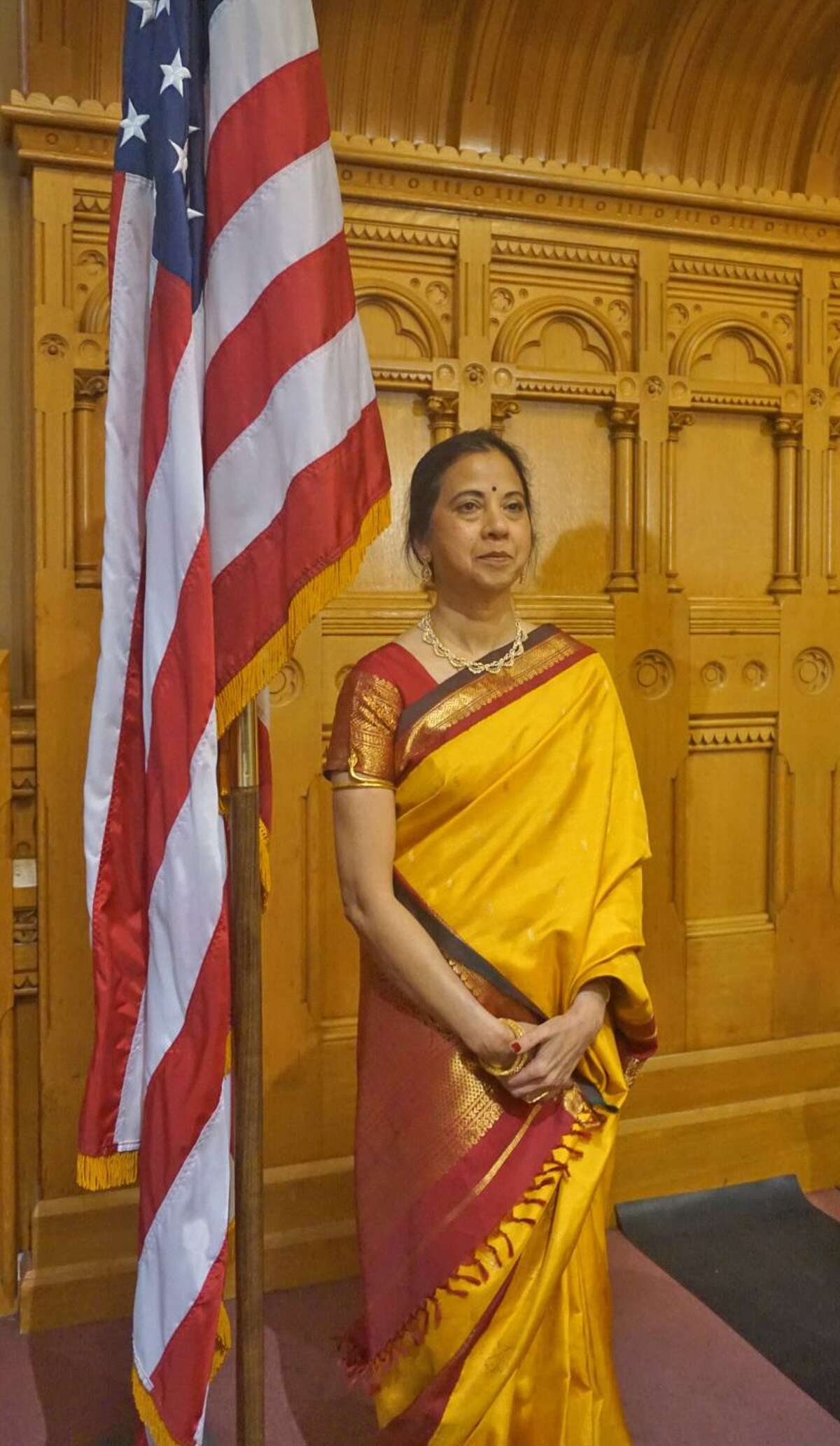 Vani Nidadavolu of Trumbull was honored on Connecticut Immigrant Day, Wednesday April 4, 2018, at the Capitol in Hartford, Conn. for teaching Indian-Americans tradition Indian dance forms.