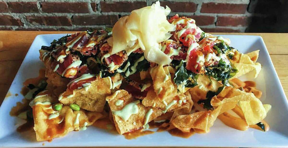 Tuna nachos at The Shop in Troy. (Provided ohoto.)