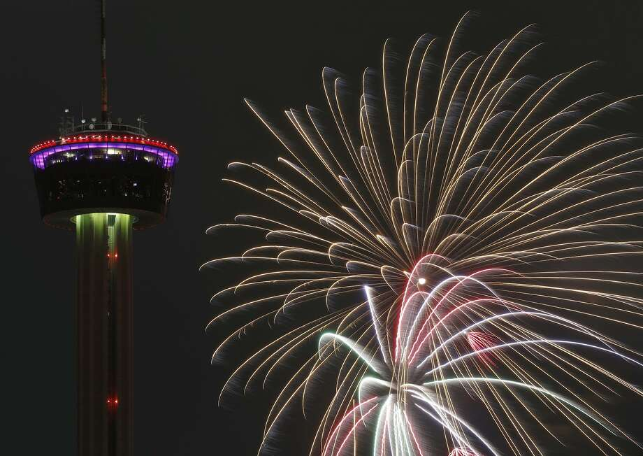 "The Tower of the Americas offers a majestic backdrop of the spectacular during the ""Celebrate 300"" on New Year's Eve. A reader proposes a community project along the lines of the landmark tower. Photo: Edward A. Ornelas /San Antonio Express-News / © 2018 San Antonio Express-News"