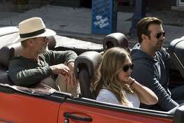 """L-R: Ed Harris, Elizabeth Olsen, and Jason Sudeikis take a road trip from New York to Kansas in """"Kodachrome,"""" opening at Bay Area theaters on April 20. Photo courtesy of Netflix."""
