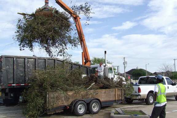 This year's Spring Sparkle event in Friendswood offers a way for  city residents to dispose of yard clippings, old furniture and all kinds of trash.