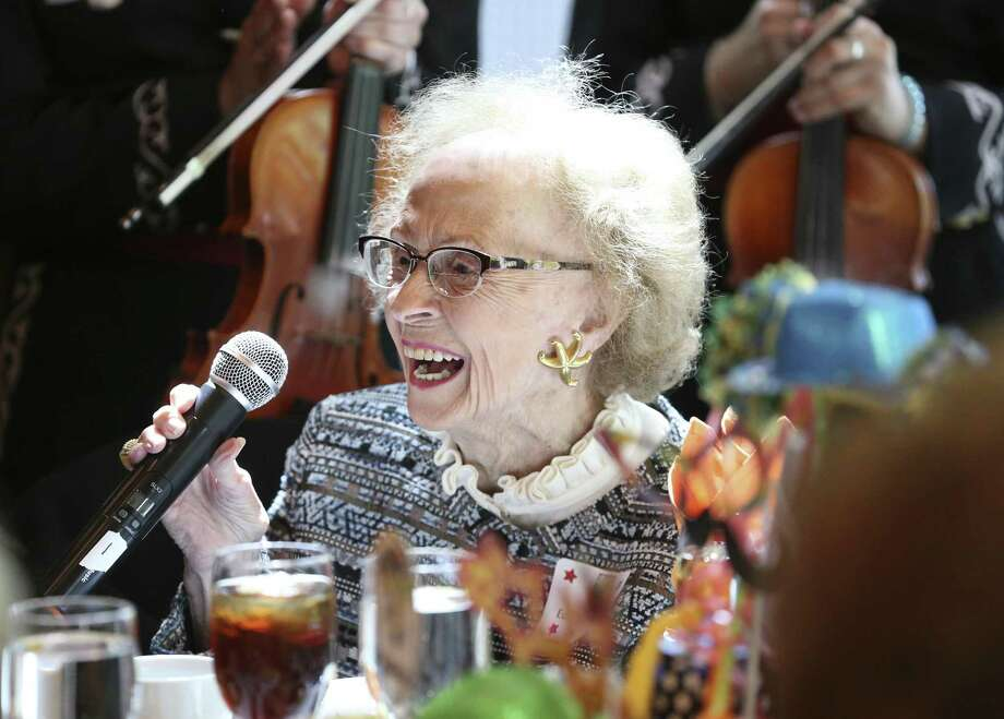 Edith McAllister is recognized in the audience at a luncheon for the Greater San Antonio After-School All-Stars program at the Briscoe Western Art Museum in April. She died Sunday. Photo: Tom Reel /San Antonio Express-News / 2017 415916Z.1 ANTONIO EXPRESS-NEWS
