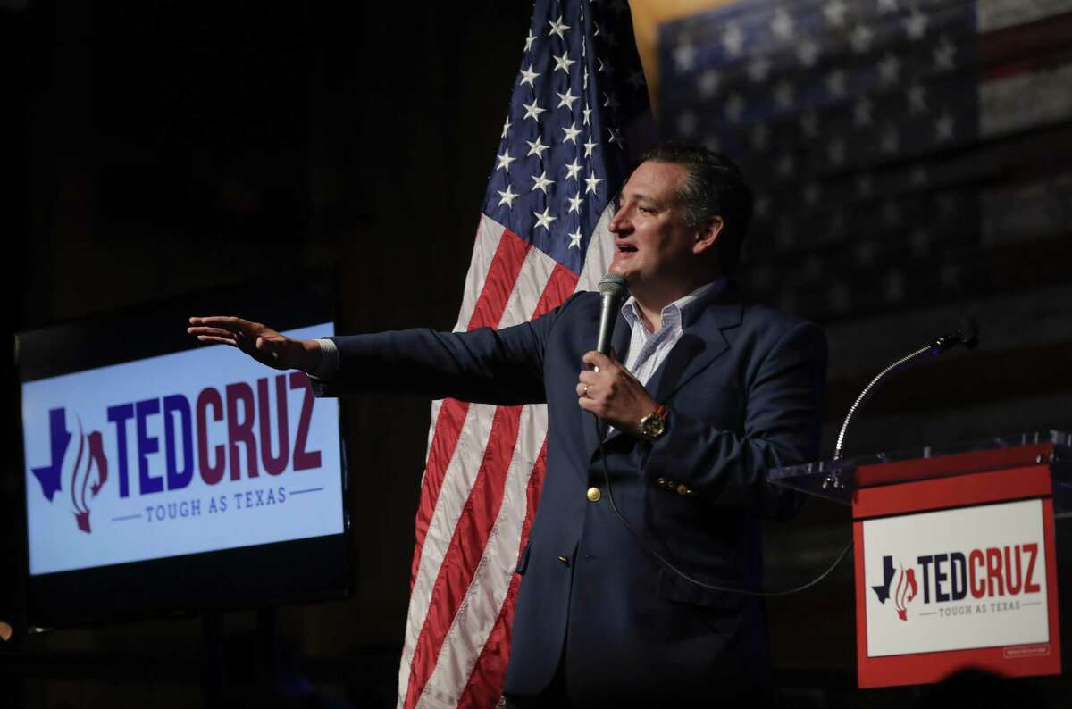 U.S. Sen. Ted Cruz (R-Texas) speaks during a rally to kick off his re-election campaign at the Redneck Country Club on April 2, 2018 in Stafford. Cruz is defending his bid for a second term against Democratic U.S. Rep. Beto O'Rourke of El Paso. (Photo by Erich Schlegel/Getty Images)