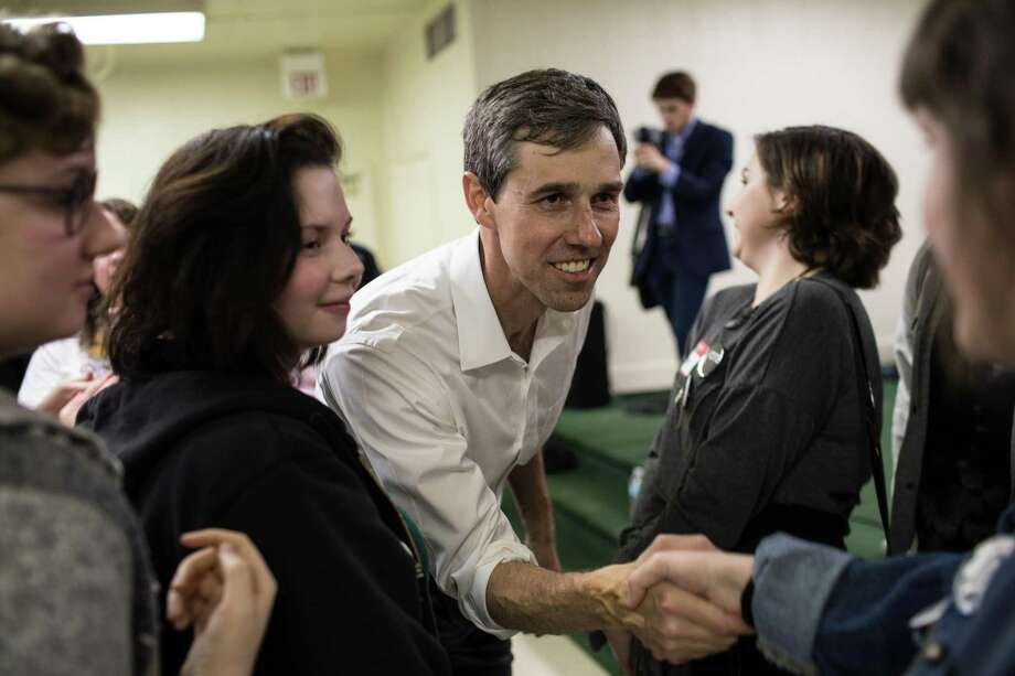 U.S. Rep. Beto O'Rourke, the Democratic nominee for U.S. Senate, greets supporters at the Brandon Community Center after a town hall event in Lufkin on Feb. 9, 2018. (Tamir Kalifa/The New York Times) Photo: TAMIR KALIFA, STR / NYT / NYTNS