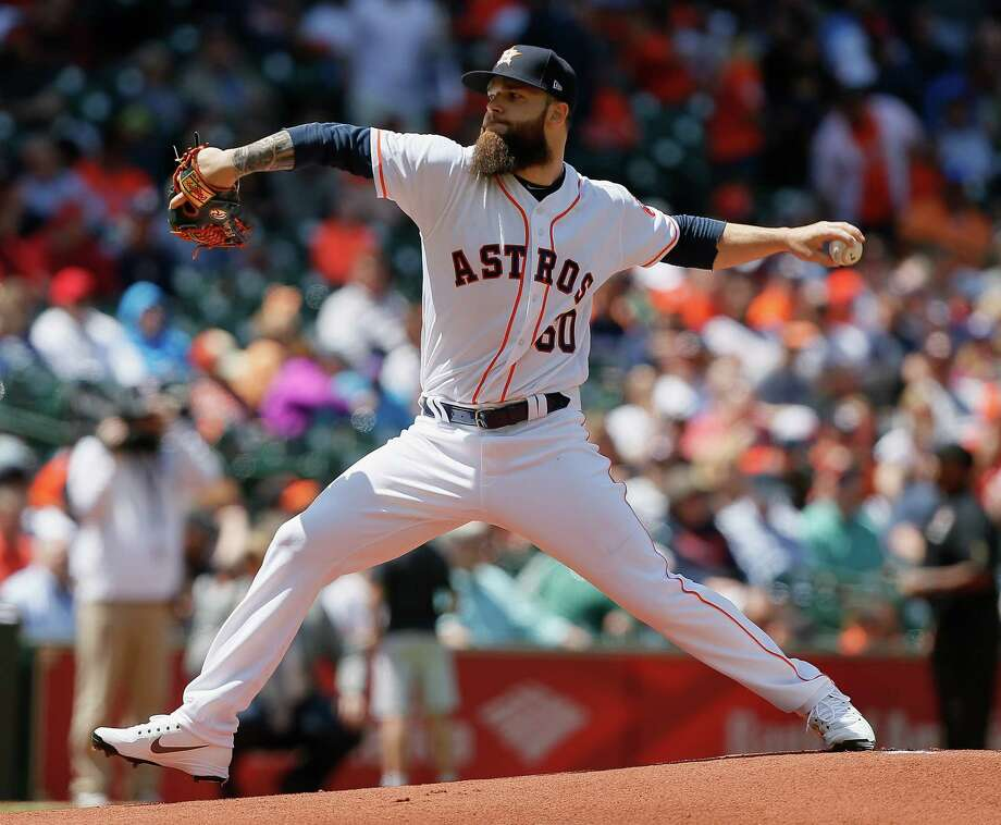 HOUSTON, TX - APRIL 04:  Dallas Keuchel #60 of the Houston Astros pitches in the first inning against the Baltimore Orioles at Minute Maid Park on April 4, 2018 in Houston, Texas.  (Photo by Bob Levey/Getty Images) Photo: Bob Levey, Stringer / 2018 Getty Images