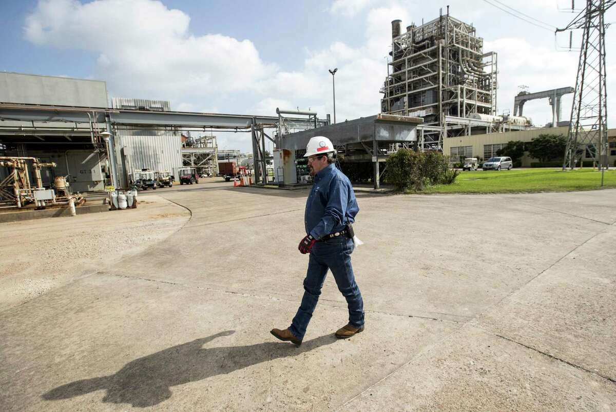Robert Harris, plant manager, walks through NRG's TH Wharton Generating Station on Tuesday, April 3, 2018, in Houston. NRG is preparing its Houston-area power plants for the summer as Texas is expected to shatter power demand records and the state's power reserves are the lowest they have been in nearly a decade. ( Brett Coomer / Houston Chronicle )