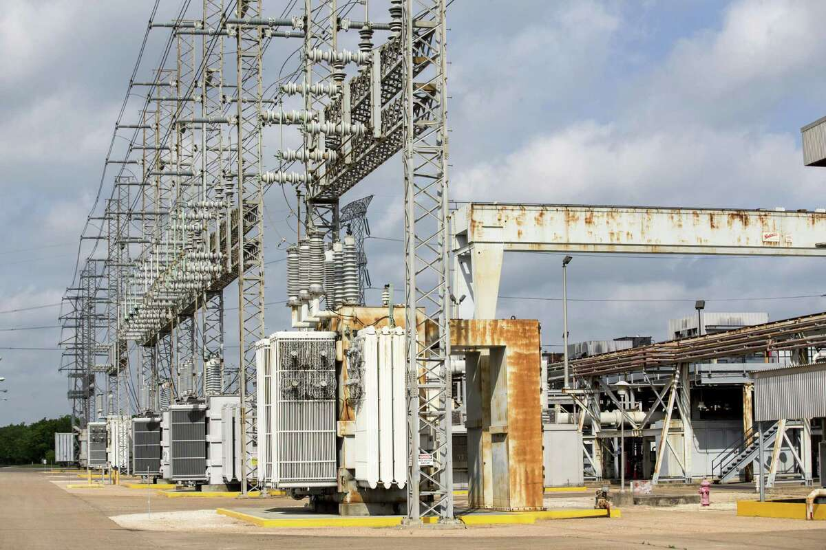 The main power transformer is shown at the NRG's TH Wharton Generating Station on Tuesday, April 3, 2018, in Houston. NRG is preparing its Houston-area power plants for the summer as Texas is expected to shatter power demand records and the state's power reserves are the lowest they have been in nearly a decade. ( Brett Coomer / Houston Chronicle )