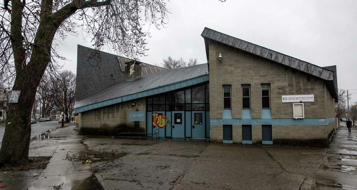 Exterior view of the former Carver Community Center on Wednesday, April 4, 2018, Schenectady, N.Y. A multicultural library, juice bar, and commercial kitchen would be some of the features people will be able to enjoy once $1.5 million Carver Community Center reopens next year. (Skip Dickstein/Times Union)