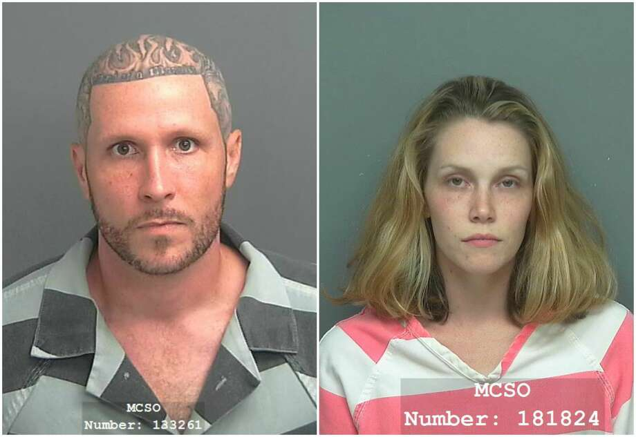 Last month, the Magnolia Police Department arrested Larry Herrington, 33, and Courtney Bow, 26,  and charged the duo with manufacture and delivery of a controlled substance.See drug busts that occurred in the Houston area in 2017. Photo: MCSO JAIL