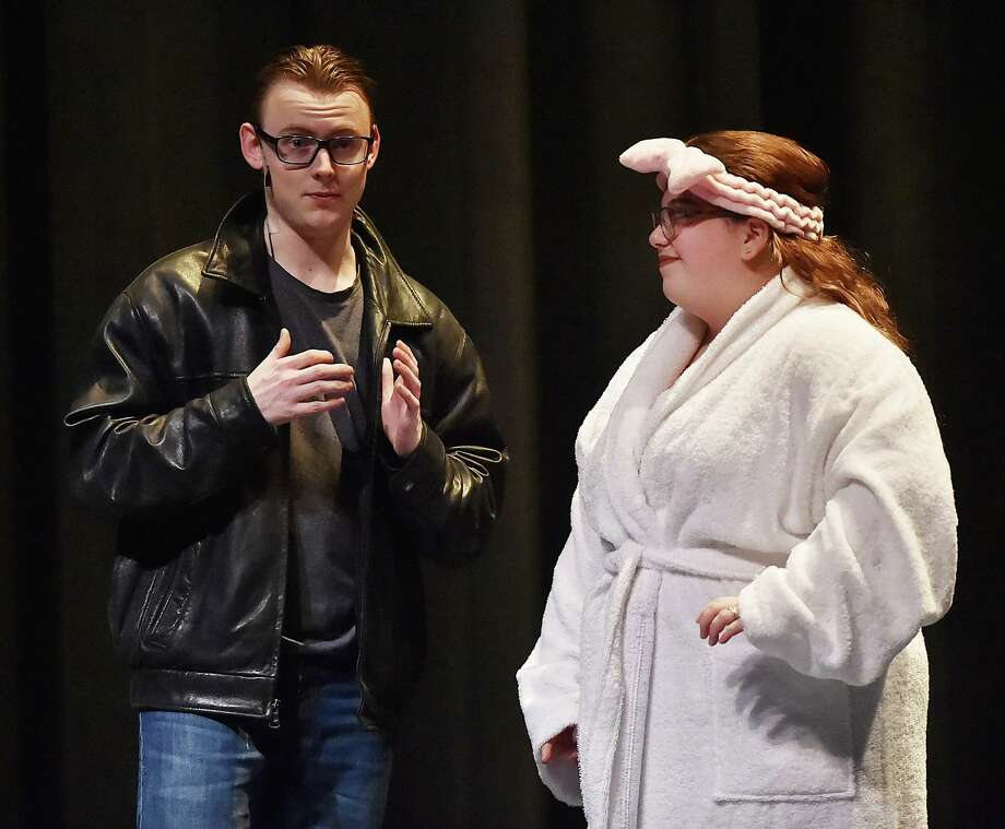 North Branford High School Drama Club perform during the dress rehearsal of Footloose, Wednesday, April 4, 2018, at the North Branford Auditorium. Performances are April 5 at 6:30 p.m., April 6 and 7 at 7 p.m. Tickets are $8 for Thursday, Friday and Saturday, $14 for adults, kids and seniors, $12. Advance tickets, $12 for adults and $10 for kids and seniors. Photo: Catherine Avalone, Hearst Connecticut Media / New Haven Register