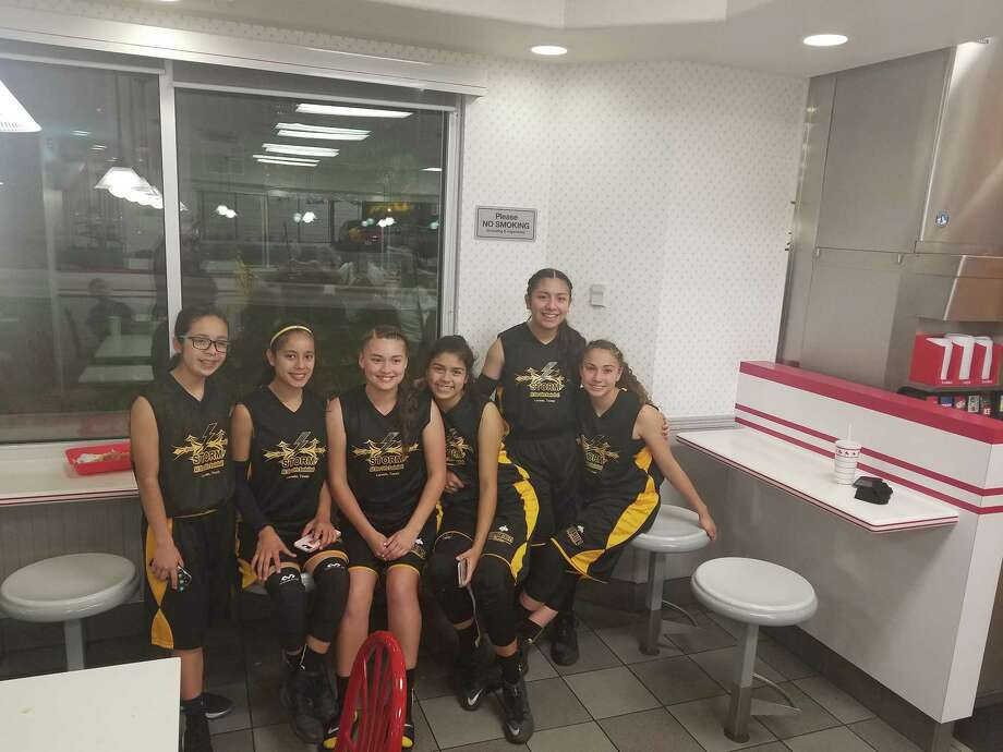 The Laredo Storm Girls' All-Star basketball team placed fifth in the Red, White, and Blue Challenge Series in Austin on March 24. Photo: Courtesy Photo