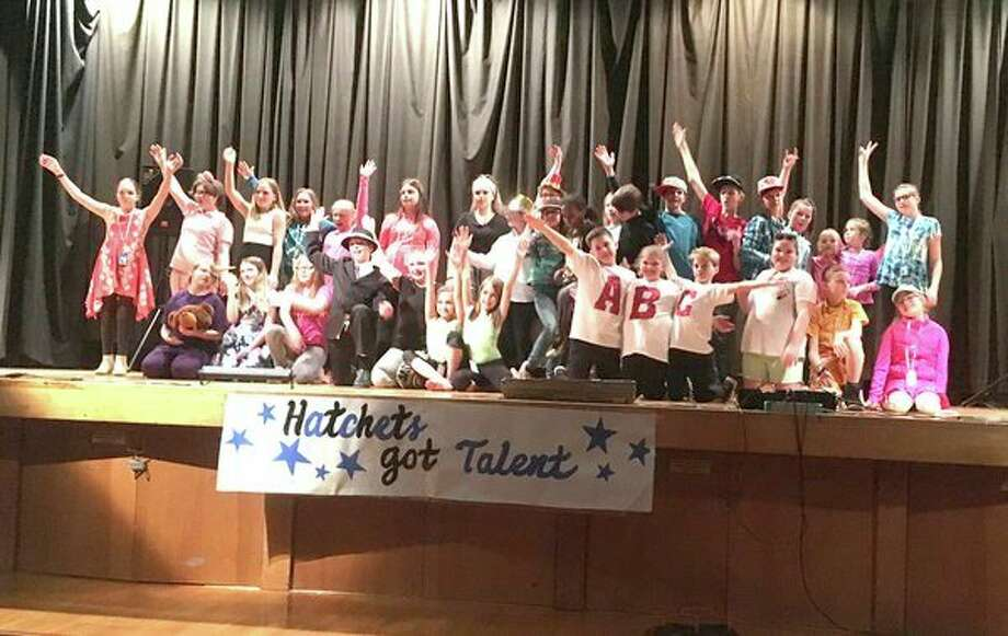 Bad Axe Middle School students recently hosted the annual Lip Sync and Talent Show. More than 200 people enjoyed the 18-student acts. The evening finale was a traditional appearance, and performance, by many of the staff members. (Submitted Photo)