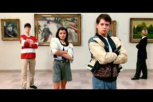 "The 1986 John Hughes film, ""Ferris Bueller's Day Off,"" starred from left, Alan Ruck, Mia Sara, and Matthew Broderick."
