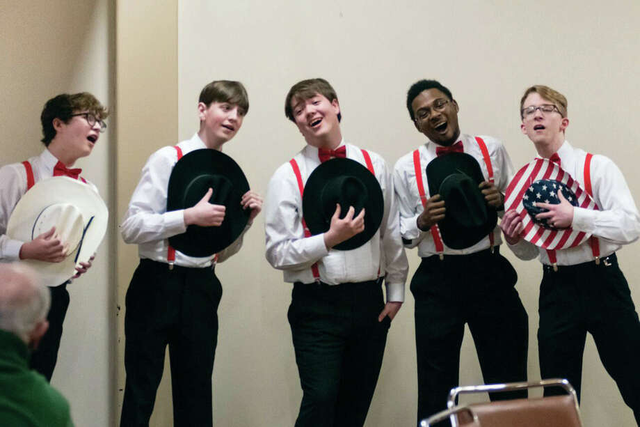 The AcaFellaz, a male a cappela group from Edwardsville High School, will perform in a concert April 12 at the Wildey Theatre Photo: For The Intelligencer