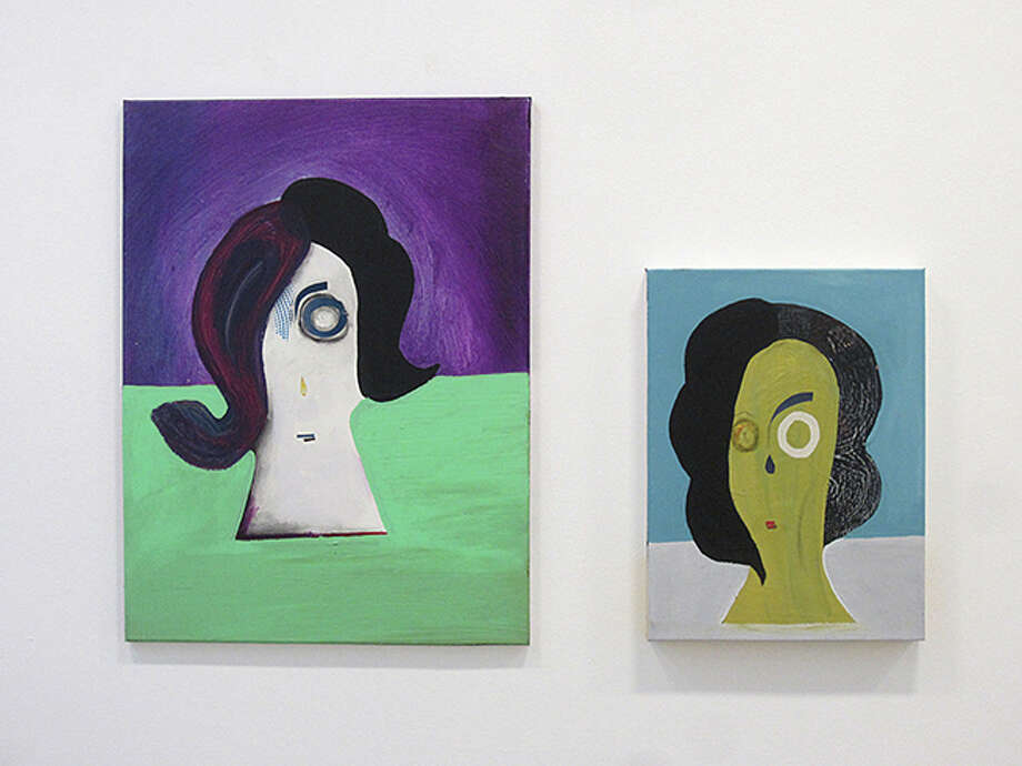 "Two works by Ben Brough that are part of the ""Femmes fatales"" exhibit at the Bruno David Gallery. Photo: For The Edge"