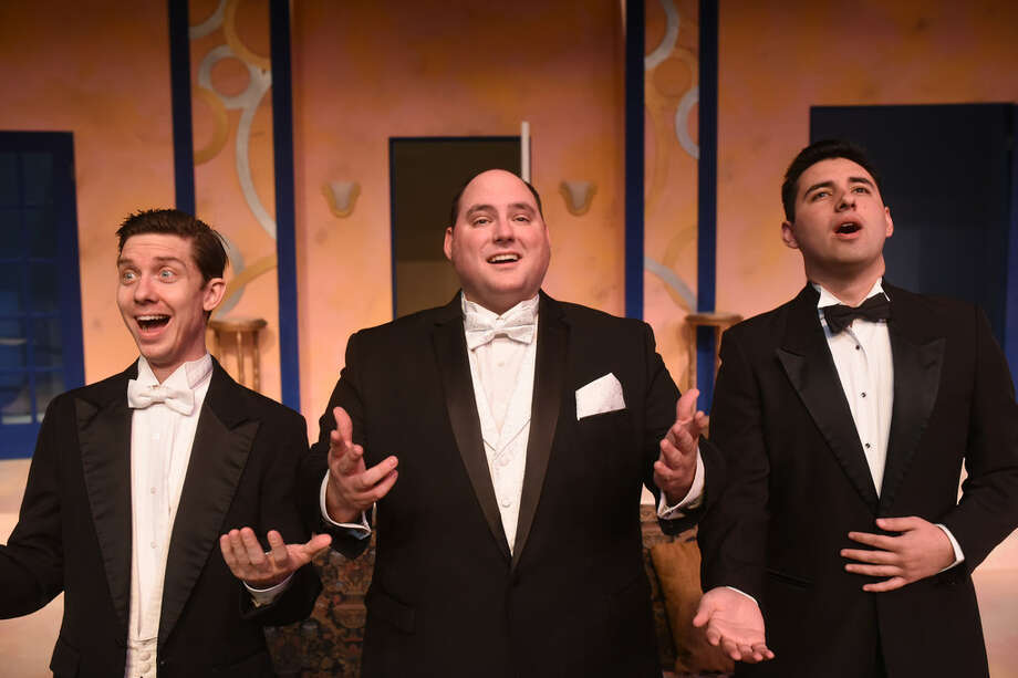 "From left, Ben Spencer, Matt Scott and Timothy Leyba star in Midland Community Theatre's ""A Comedy of Tenors"" which opens Friday Photo: Courtesy Photo"