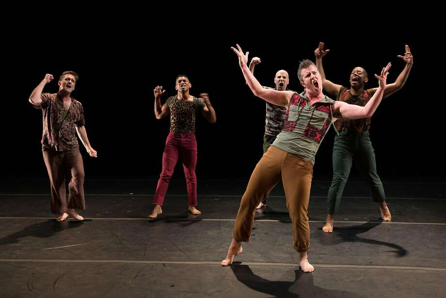 """""""Boys in Trouble"""" combines dance, theater and humor to unpack masculinity in American culture. Photo: Lydia Daniller"""