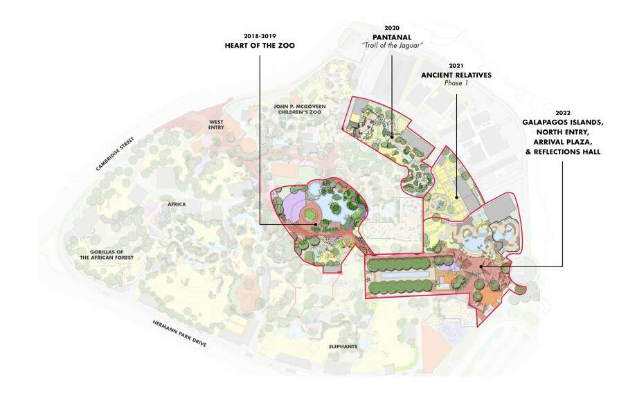 This is a map of Phase One of the new Houston Zoo construction. Photo: Houston Zoo