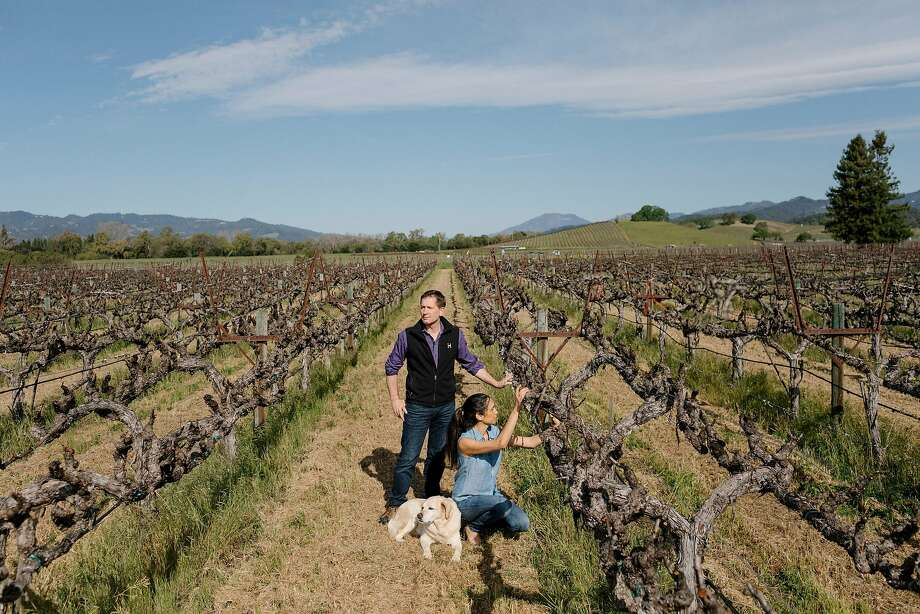 Along with other California vintners, Michael and Stephanie Honig, whose winery is in Rutherford, stand to lose from retaliatory trade-war tariffs by China targeting wine. Photo: Jason Henry / New York Times