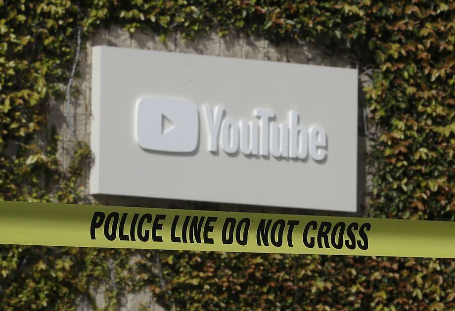 Police tape is shown outside of a YouTube office building in San Bruno, Calif., Wednesday, April 4, 2018. A woman suspected of shooting three people at YouTube headquarters before killing herself was furious with the company because it had stopped paying her for videos she posted on the platform, her father said Tuesday, April 3, 2018. (AP Photo/Jeff Chiu) Photo: Jeff Chiu, AP