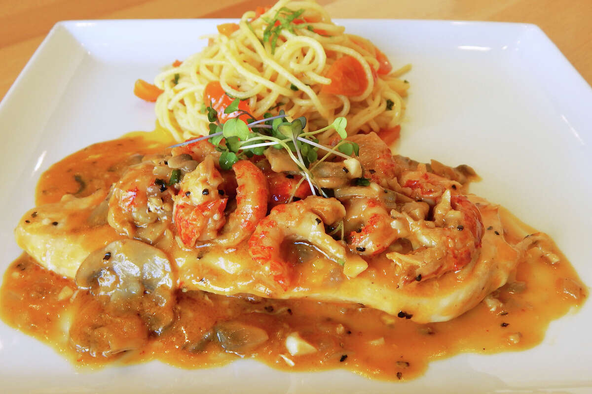 Chicken Marengo with pasta at Fresco! Cafe Italiano, 3277 Southwest Fwy., from chef Roberto Crescini.