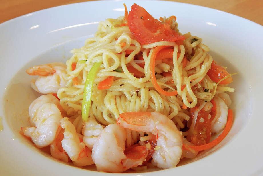 Tagliolini with shrimp at Fresco! Cafe Italiano, 3277 Southwest Fwy., from chef Roberto Crescini. Photo: Fresco! Cafe Italiano