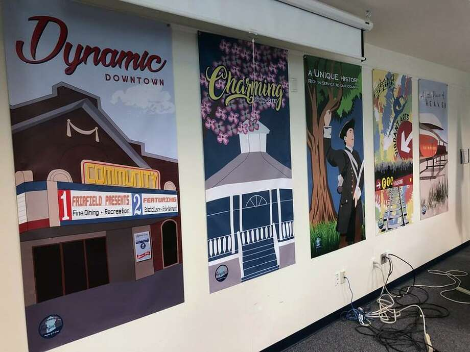 Banners celebrating Fairfield made by students will be hung around town. Photo: Contributed Photo / Fairfield Citizen