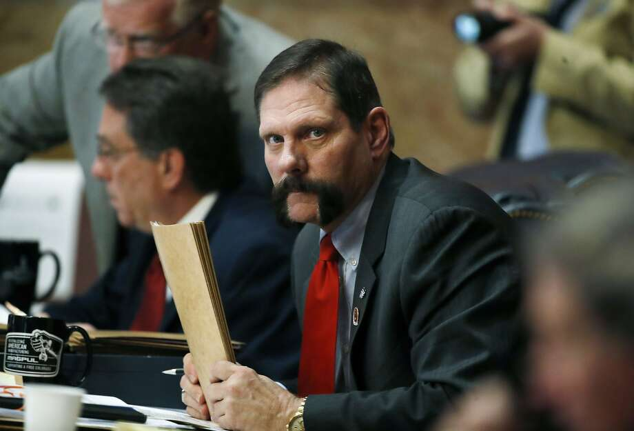 The Republican controlled state Senate has refused to introduce a Democratic resolution to oust GOP Sen. Randy Baumgarder for more than a month for sexual misconduct. Photo: David Zalubowski / Associated Press