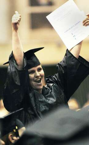 Christine Lovelace, of Troy, graduates Thursday from The Capital District Educational Opportunity Center with a certificate from the Business Employment Skills for Today. ( Luanne M. Ferris / Times Union)