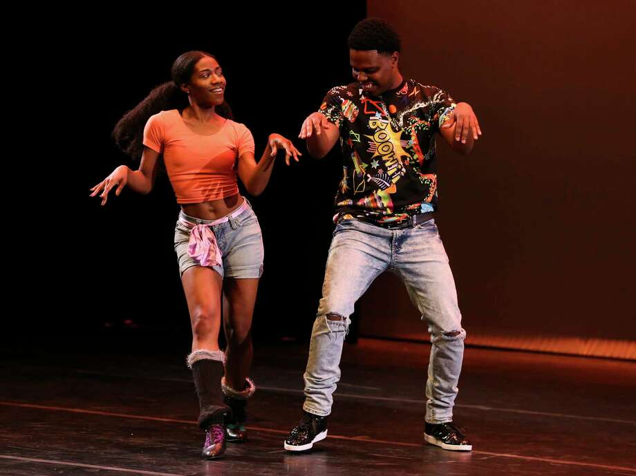 Amir Diamond and his dance partner perform at the Urban Souls Dance Company's biannual Dancing with Houston Stars on Thursday, March 29, 2018, in Houston. Photo: Yi-Chin Lee, Houston Chronicle / © 2018 Houston Chronicle