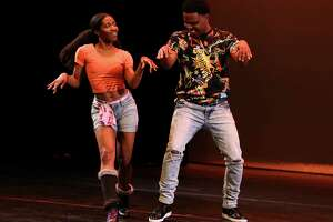 Amir Diamond and his dance partner perform at the Urban Souls Dance Company's biannual Dancing with Houston Stars on Thursday, March 29, 2018, in Houston.