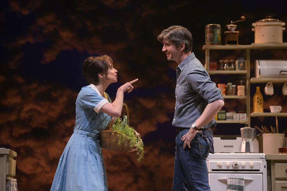 "Francesca (Joan Hess) offers to make fresh soup for Robert (Rob Richardson) in TheatreWorks' ""The Bridges of Madison County."" Photo: Kevin Berne / TheatreWorks"