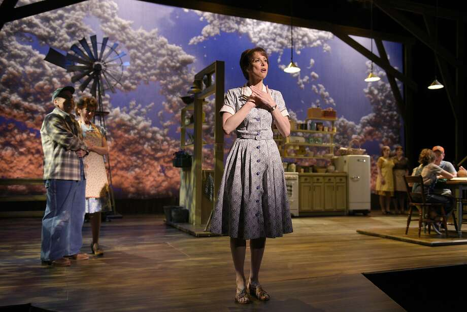 "Francesca (Joan Hess) recounts her journey from young woman in Italy to wife and mother in Iowa in TheatreWorks' musical version of the book ""The Bridges of Madison County."" Photo: Kevin Berne / TheatreWorks"