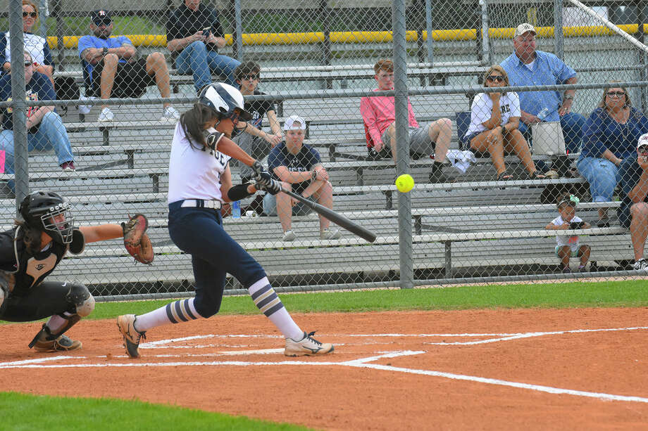Klein Collins sophomore 1B Mia Cantu, who bats either leadoff or third, is one of the key hitters in the lineup. She has the highest batting average and leads the team in hits and runs scored. Photo: Tony Gaines /HCN, Photographer
